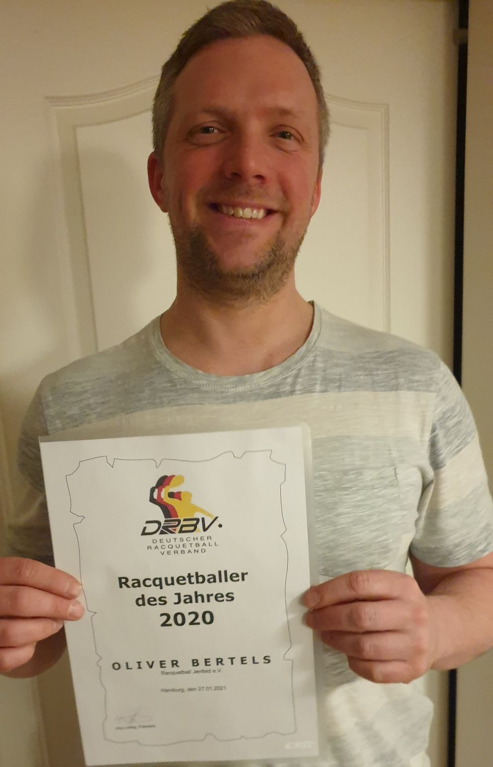Oliver Bertels ist Racquetballer des Jahres 2020